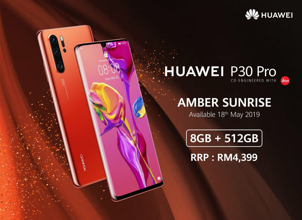 Huawei Unveils P30 Pro Amber Sunrise 512GB, Priced at RM4,399 3