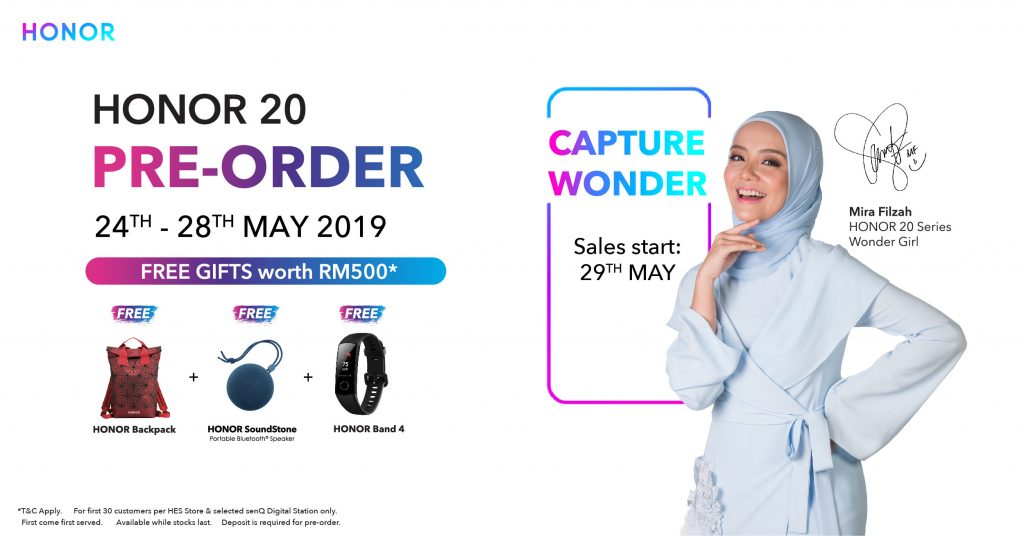 HONOR 20 Pre-order Begins 24th May with free gifts worth up to RM500 17