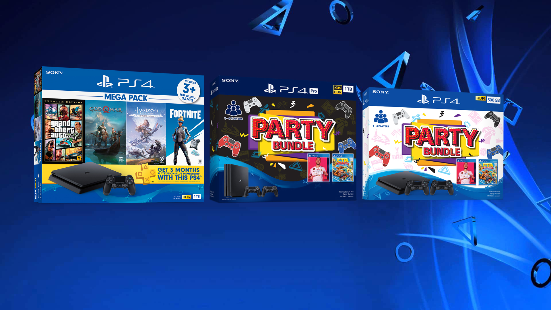Playstation 4 to Get New Party Bundles and MEGA PACK 17