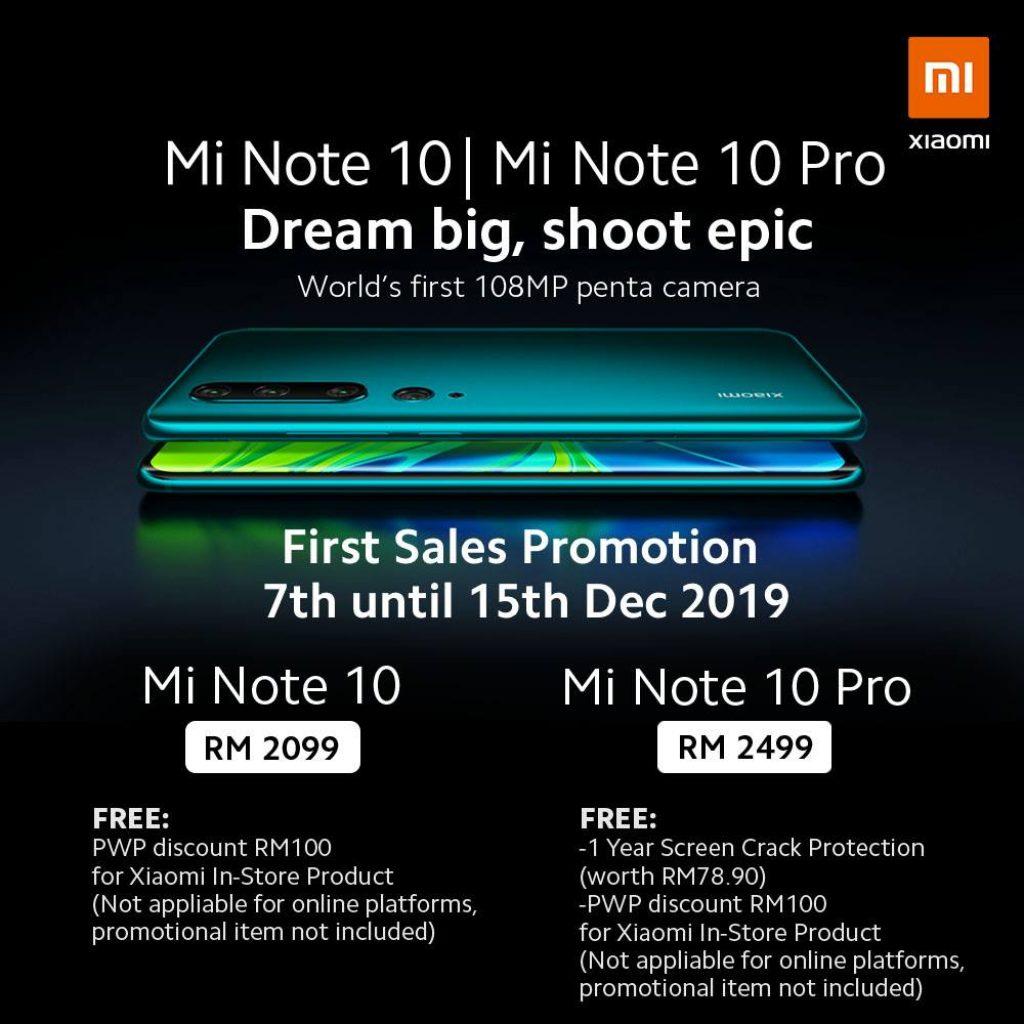 Mi Note 10 Malaysia Price