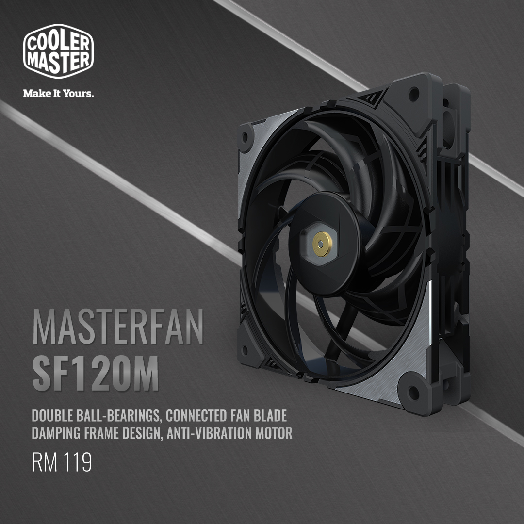 Cooler Master Unveils New Performance Fan, MasterFan SF120M 17
