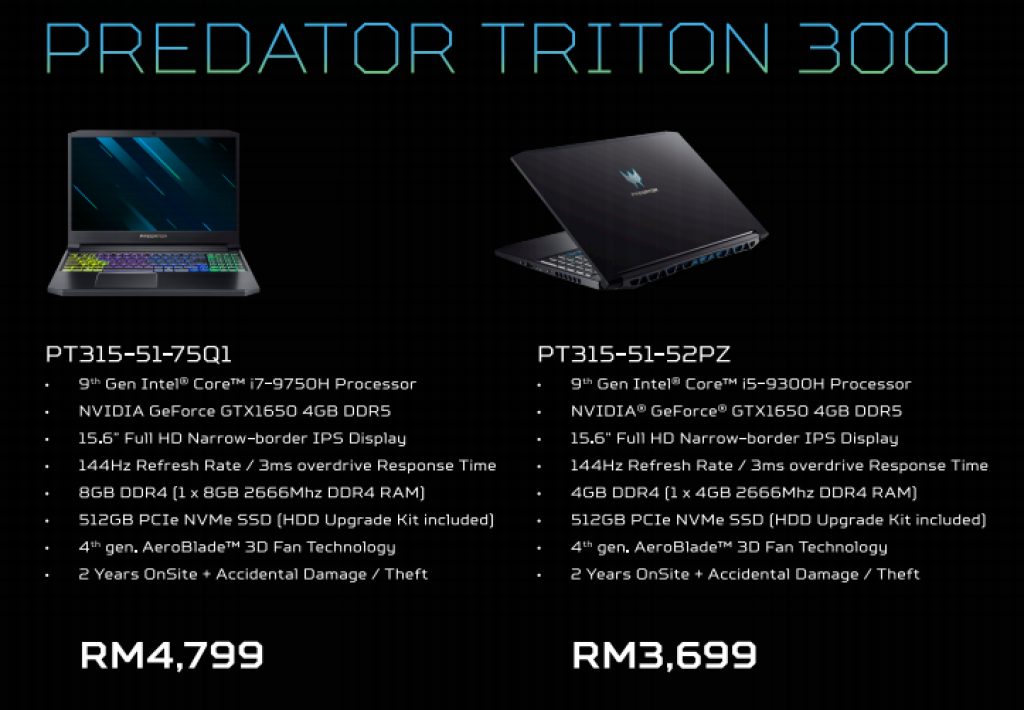 Acer Predator Triton 300 and 43-inch CG437K P Monitor Launched in Malaysia 10