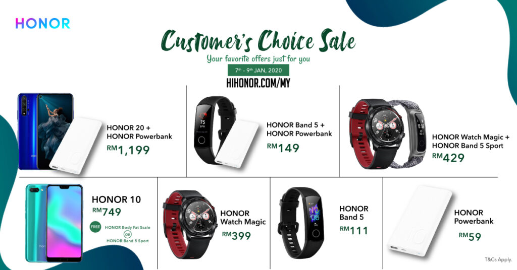 HONOR Customer's Choice Sale Thanks Fans with Great Deals 16