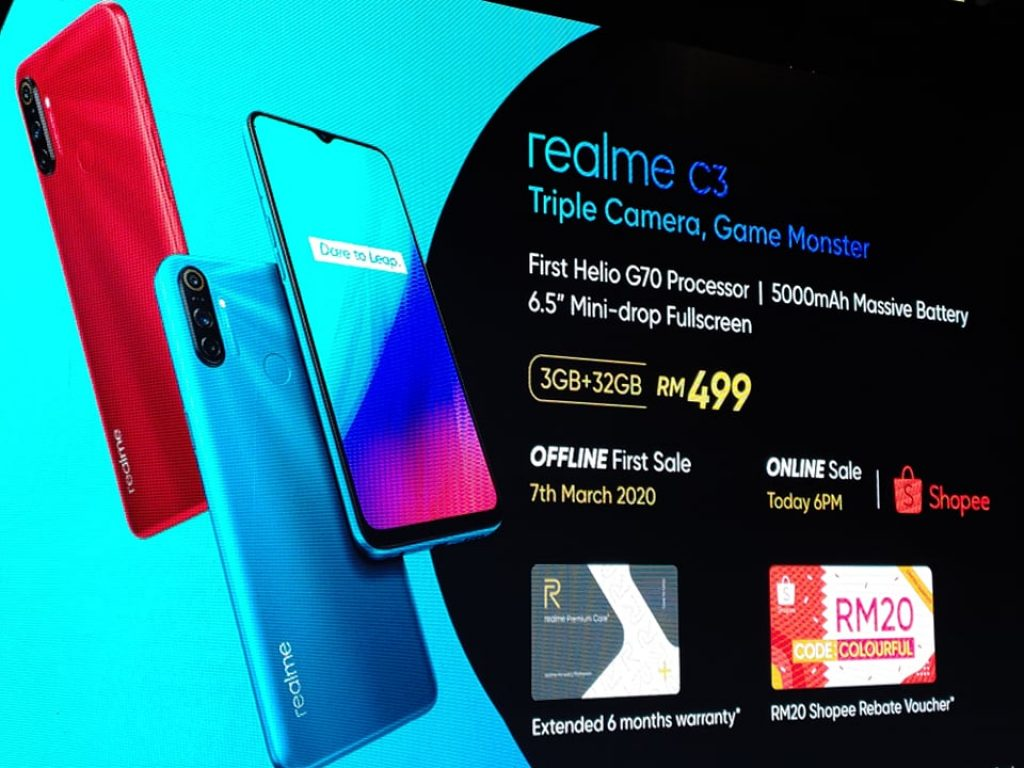 realme C3 Launched with Helio G70 + 5,000mAh Battery at RM499 6