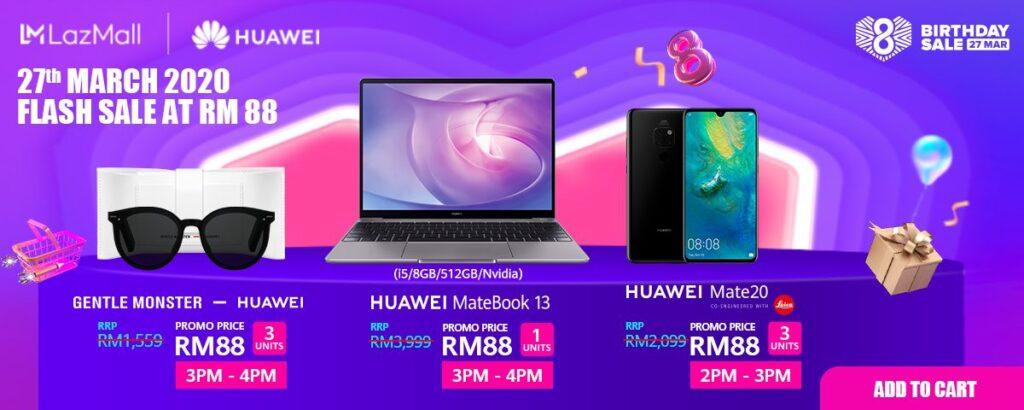 Huawei Lazada 8th Birthday Sale