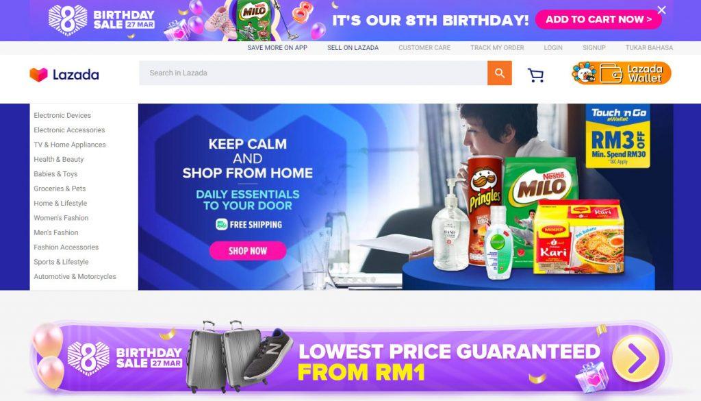Lazada's 8th Birthday Online Sale