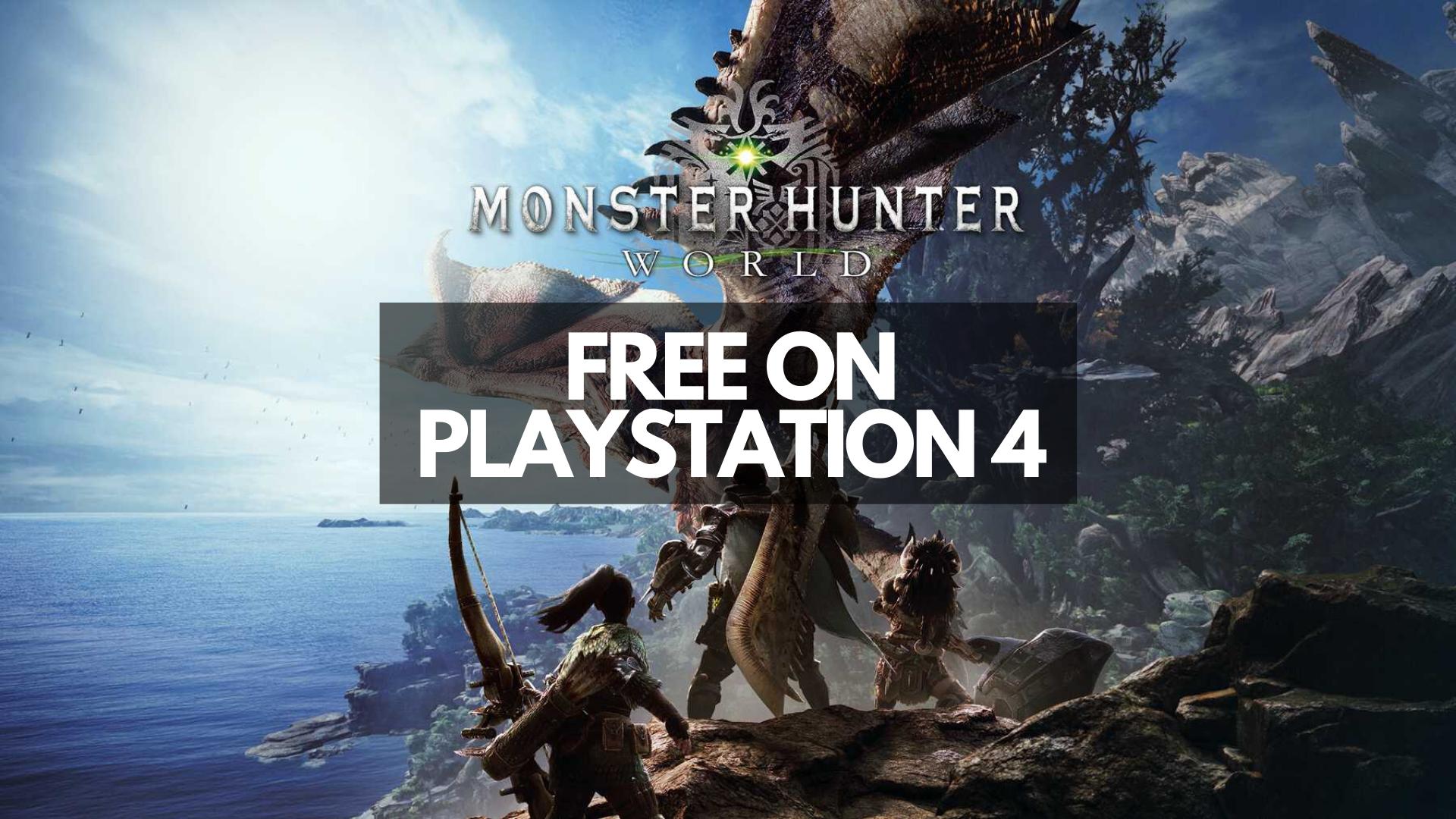Monster Hunter World Free PS4