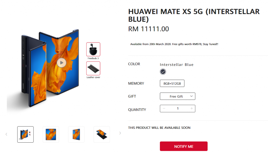 Huawei Mate Xs To Launch in Malaysia For RM11,111 6