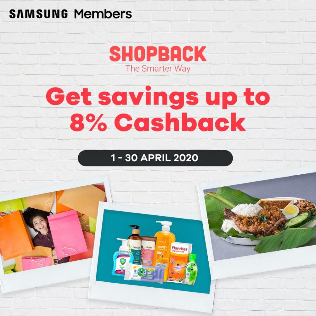 Samsung Members to Enjoy Up To 8% Cashback on dahmakan, Shopee or Watsons via ShopBack! 3
