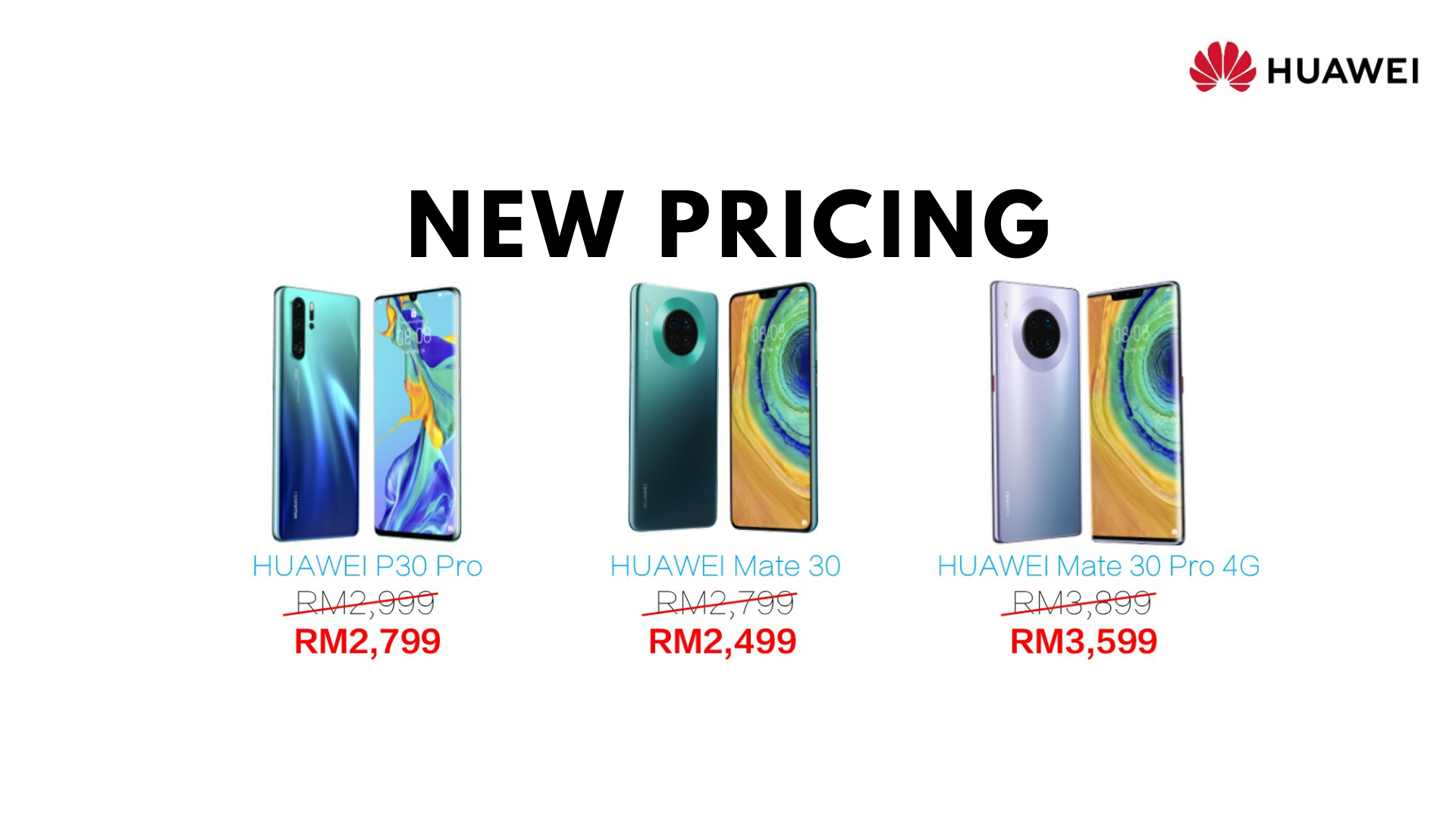 Huawei P30 Pro new pricing