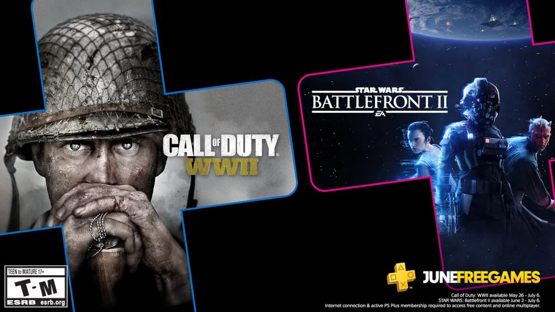 PS Plus June 2020 Call of Duty WWII star wars battlefront II