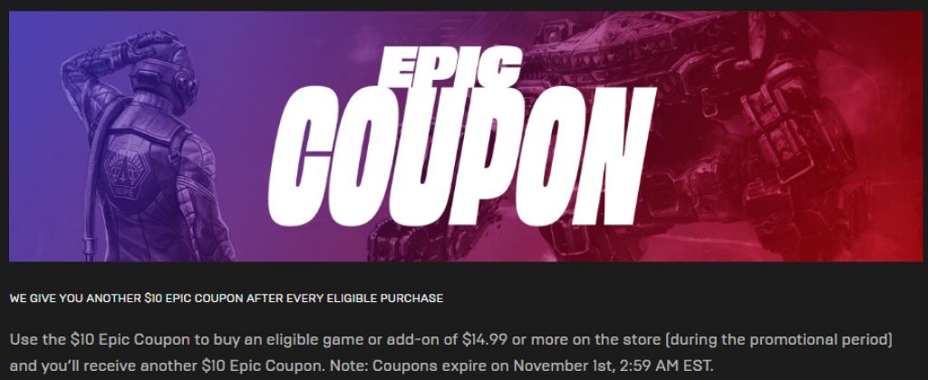 EPIC Mega Sale EPIC Coupon