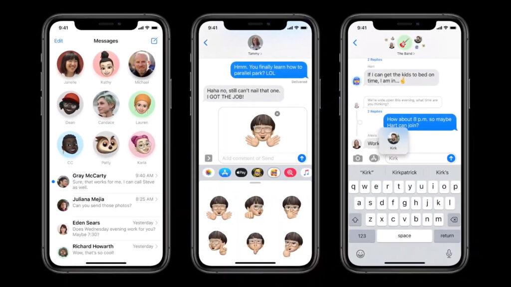 iOS 14 inline replies