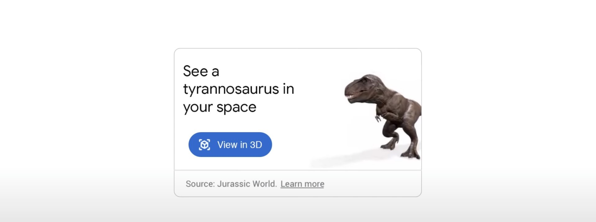 Google AR Dino