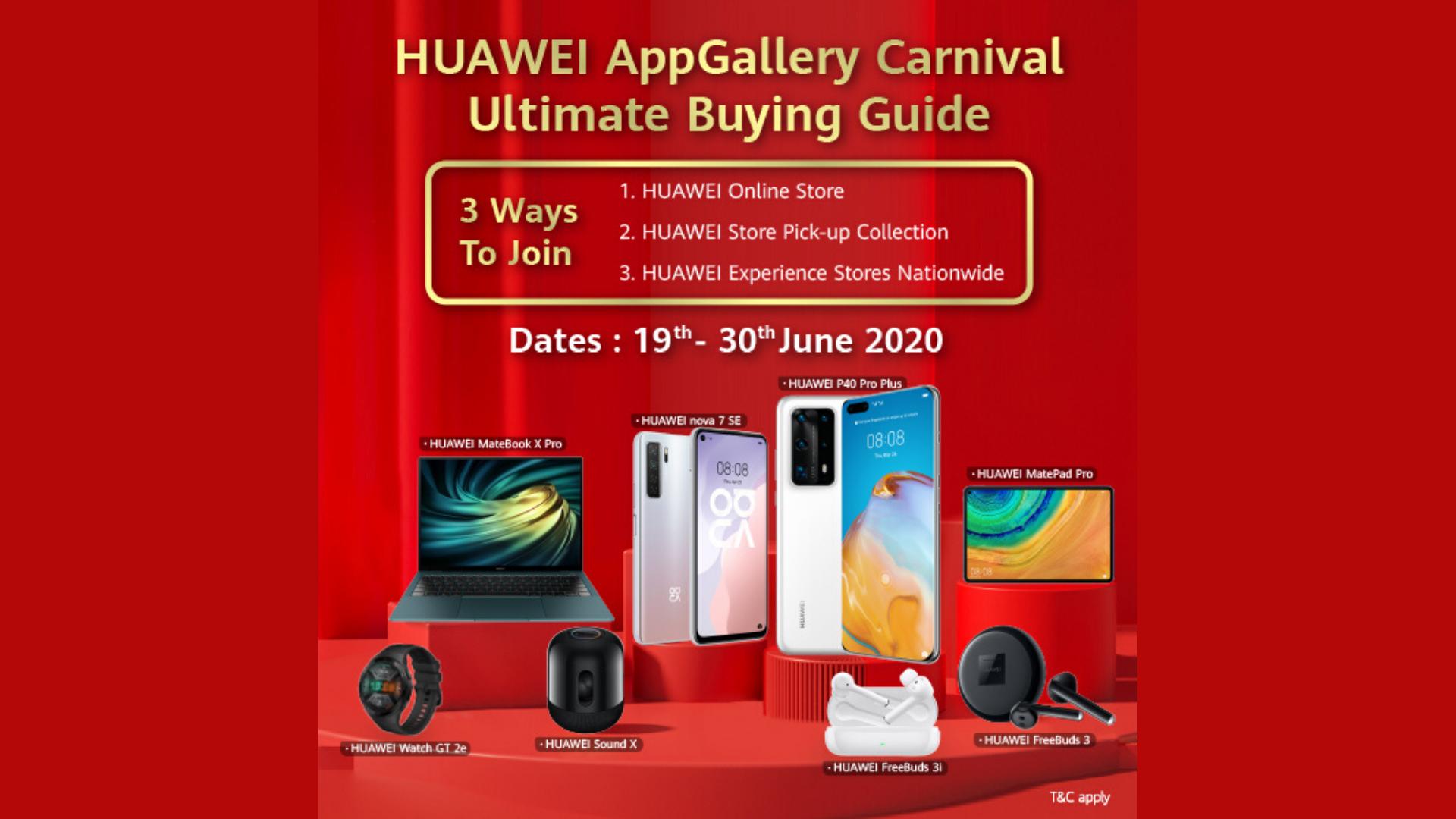 Huawei AppGallery Carnival Sale