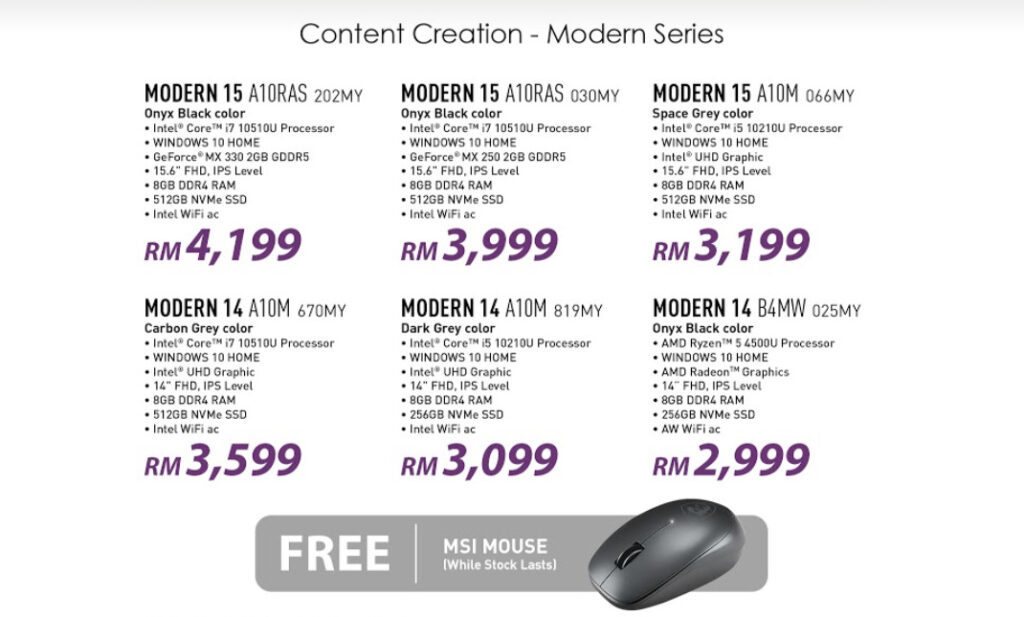 MSI Mid-Year Promo 22 June to 12th July: Grab Those Deals With Extra Free Gifts! 6