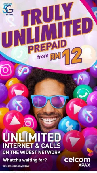 Celcom Xpax Unlimited Prepaid Internet Pass Poster