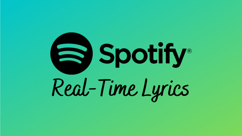 Spotify Real-Time Lyrics