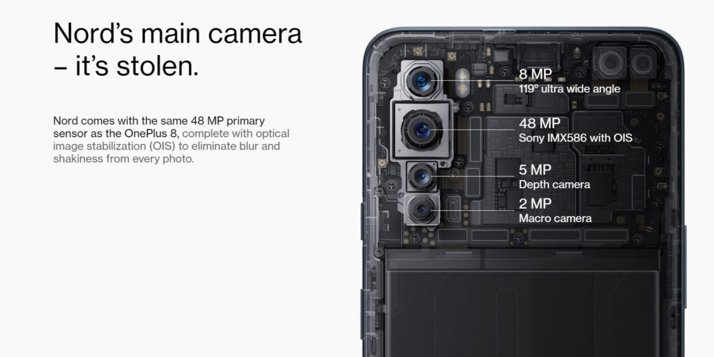 OnePlus Nord camera system