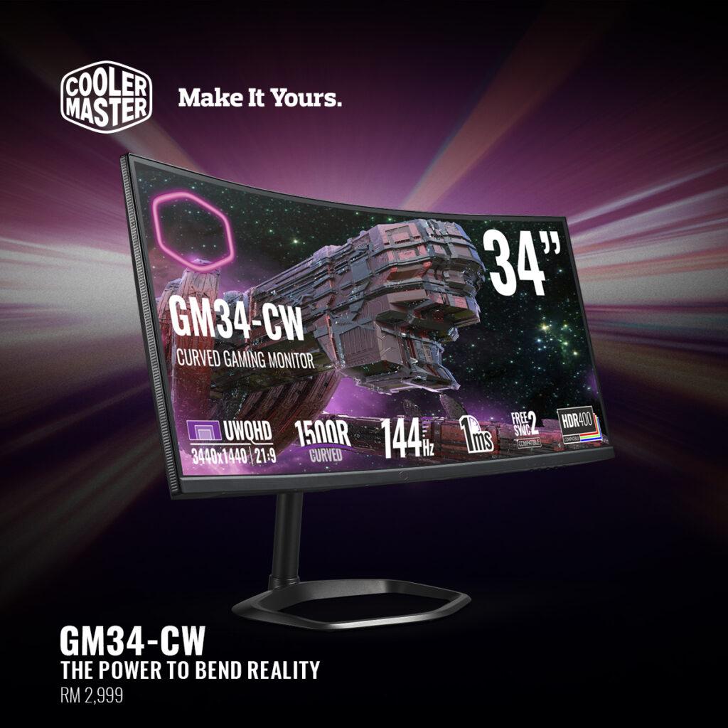 Cooler Master Gaming Monitor GM34-CW