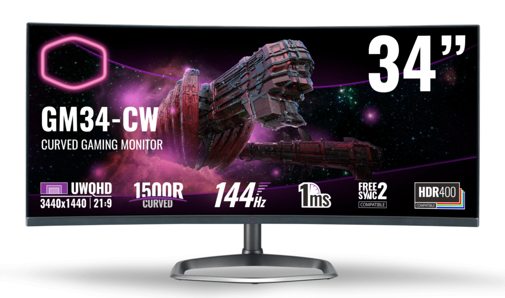 Cooler Master Gaming Monitors Now In Malaysia From RM1,369 - GM27-CF & GM34-CW 25