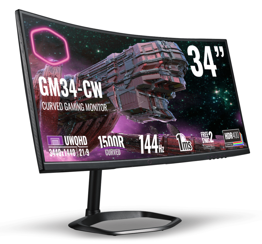 Cooler Master Gaming Monitors Now In Malaysia From RM1,369 - GM27-CF & GM34-CW 24