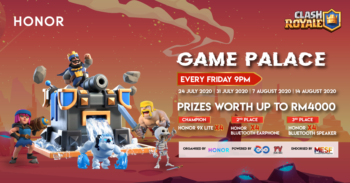 HONOR Game Palace Tournament clash royale