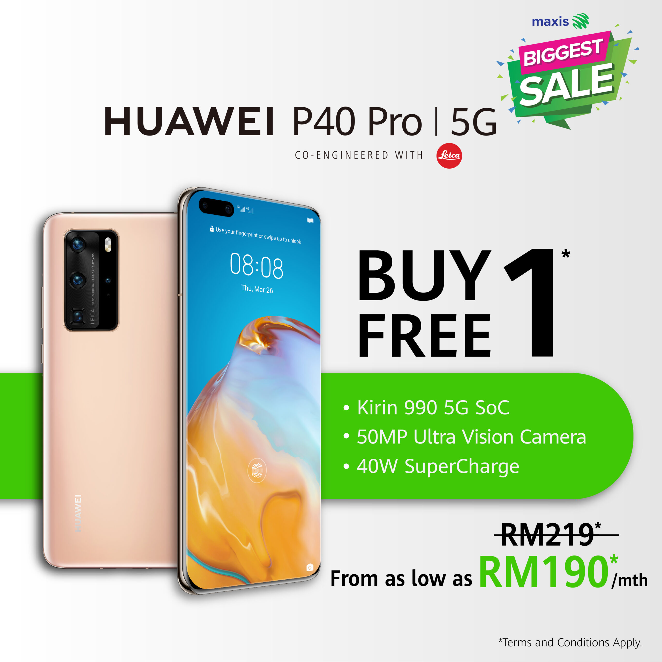 Here Are All The Huawei Deals From Maxis Biggest Sale; Buy 1 Free 1 On Huawei P40 Series 14