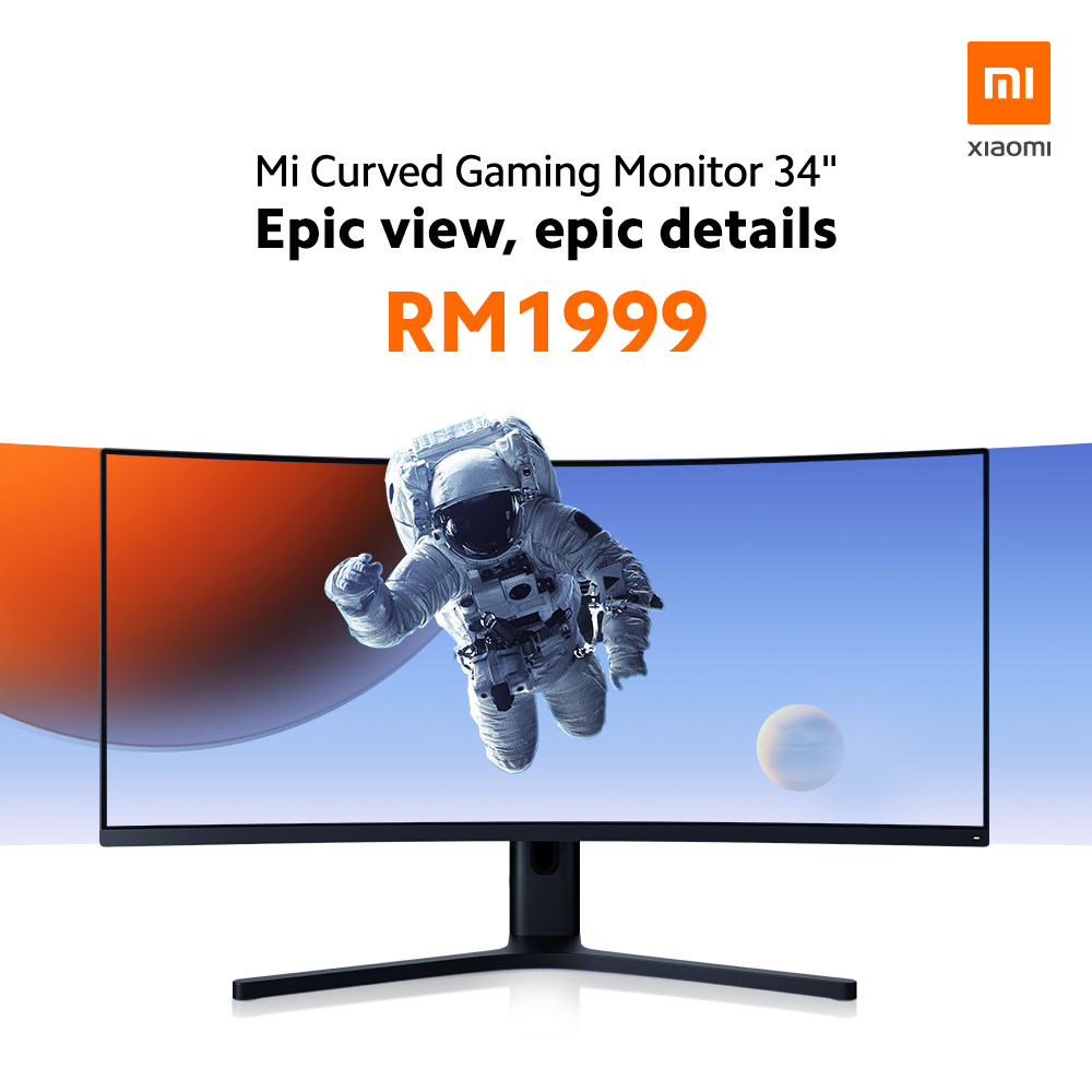 """Xiaomi Mi Curved Gaming Monitor 34"""" And Mi Portable Photo Printer Debuts In Malaysia For RM1,999 And RM249 Respectively 6"""