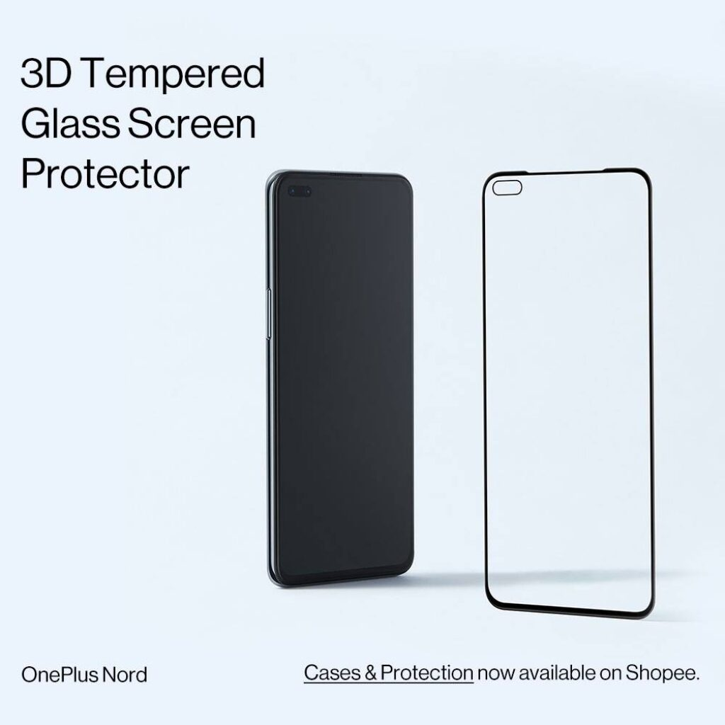 OnePlus Nord Accessories 3D tempered glass screen protector