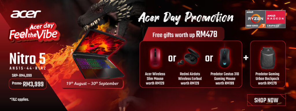 Acer Celebrates Merdeka By Introducing Five New Laptops From Nitro, Aspire, Swift And Spin Series 9