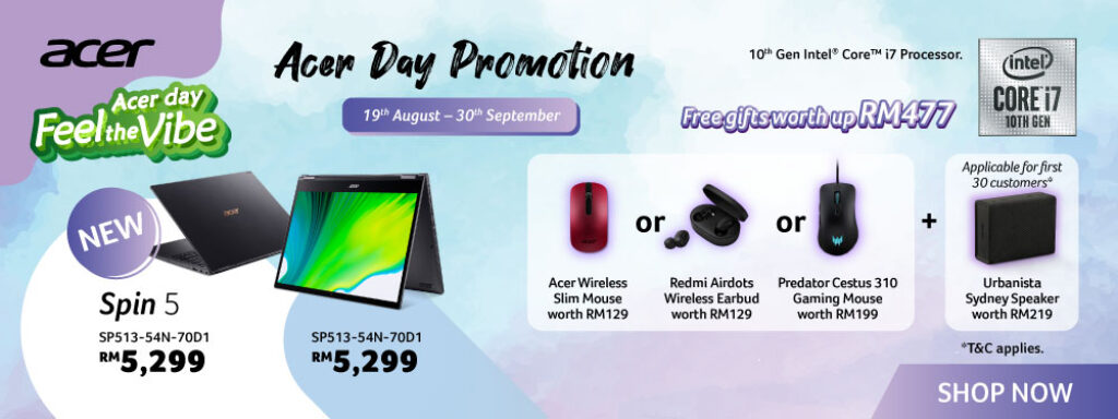 Acer Celebrates Merdeka By Introducing Five New Laptops From Nitro, Aspire, Swift And Spin Series 16