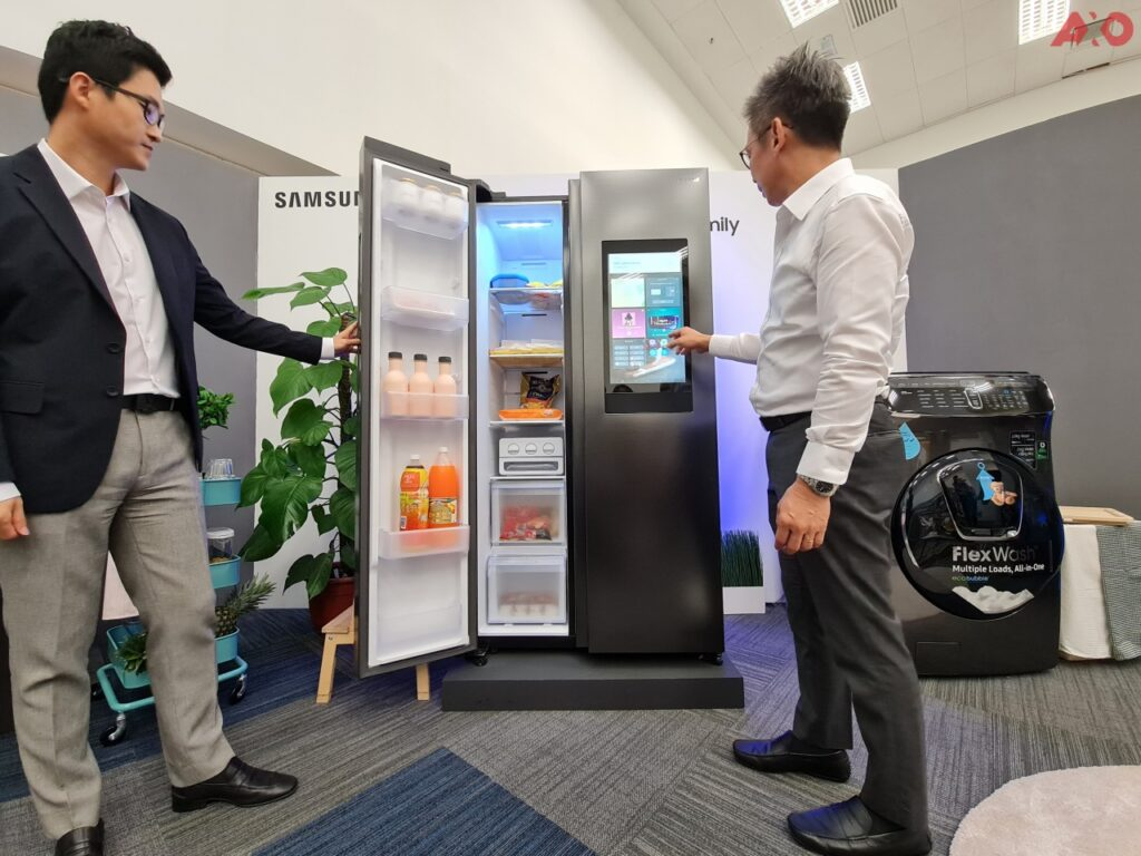Samsung Family Hub side-by-side smart fridge