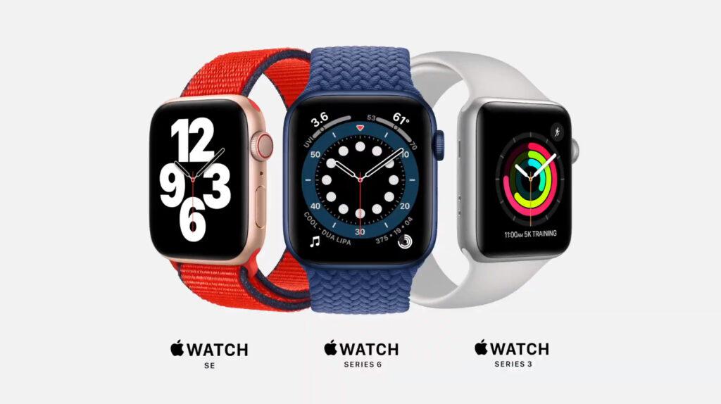 Apple Watch Series 6, Apple Watch SE, Apple Watch Series 3
