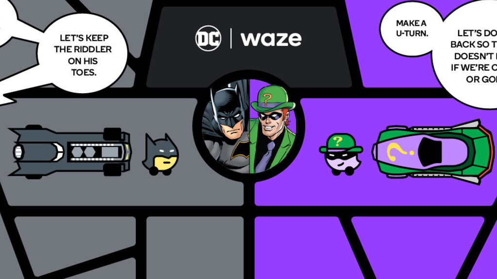 Waze Batman Riddler