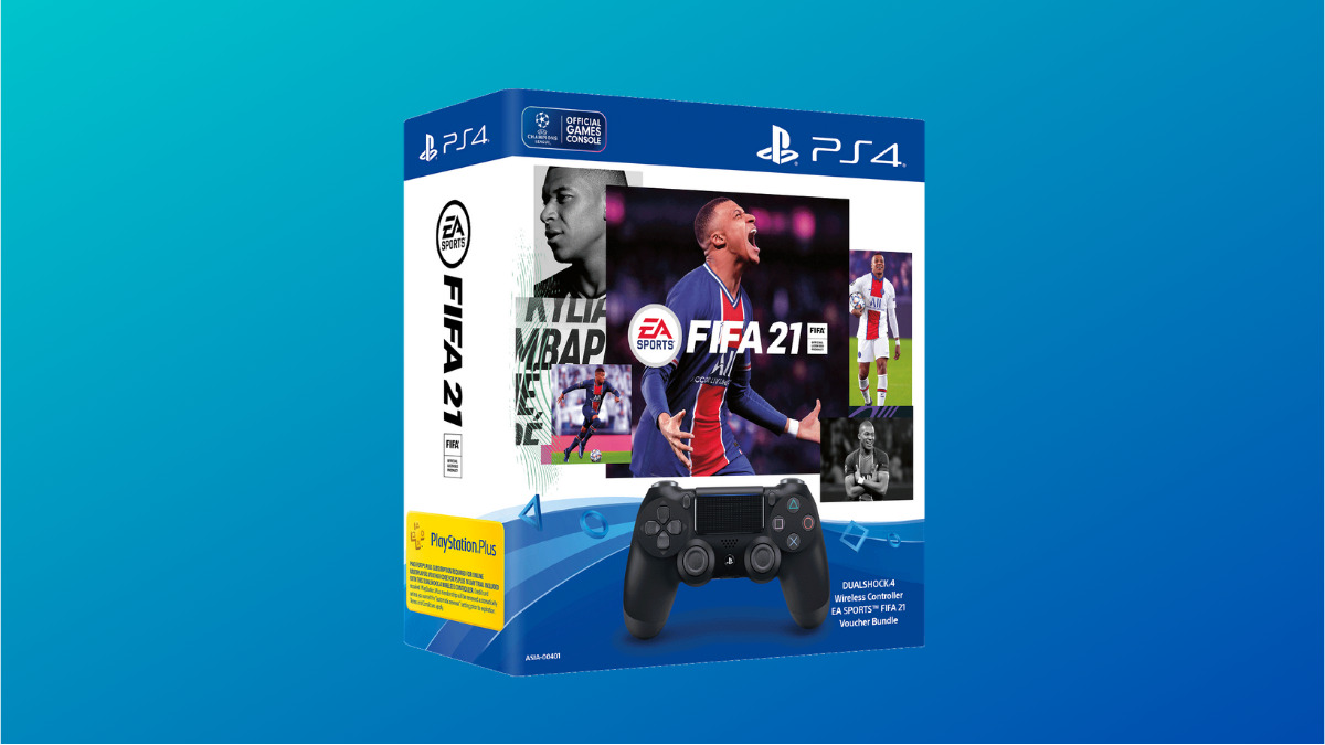 DUALSHOCK 4 Wireless Controller EA SPORTS FIFA 21 Voucher Bundle