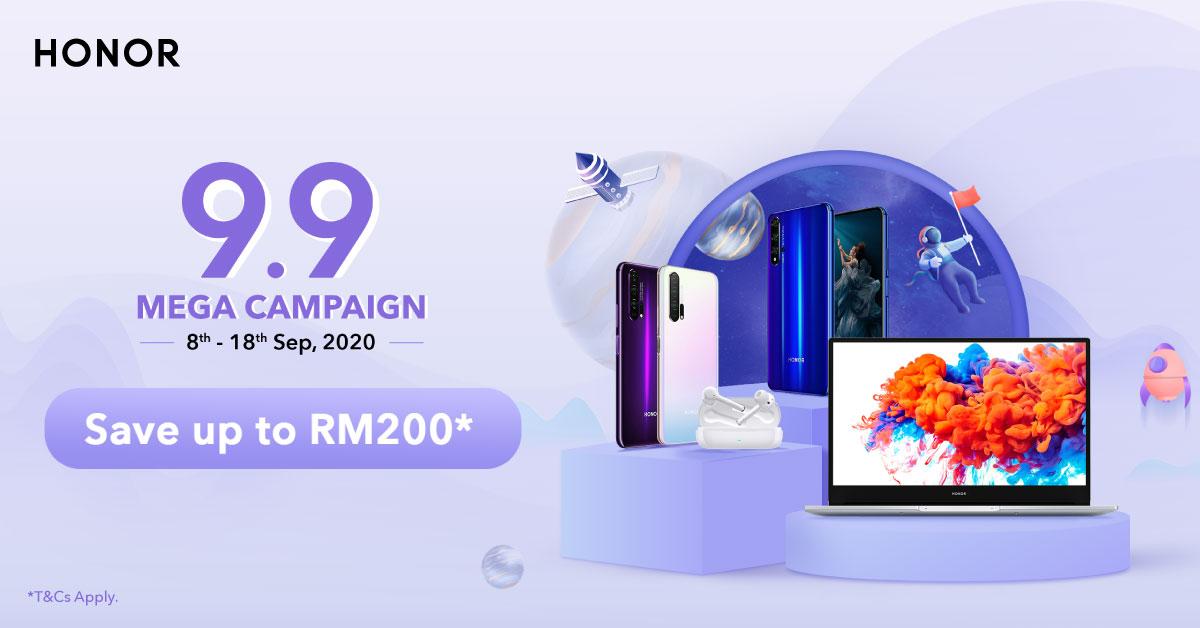 Honor 9.9 Mega Campaign
