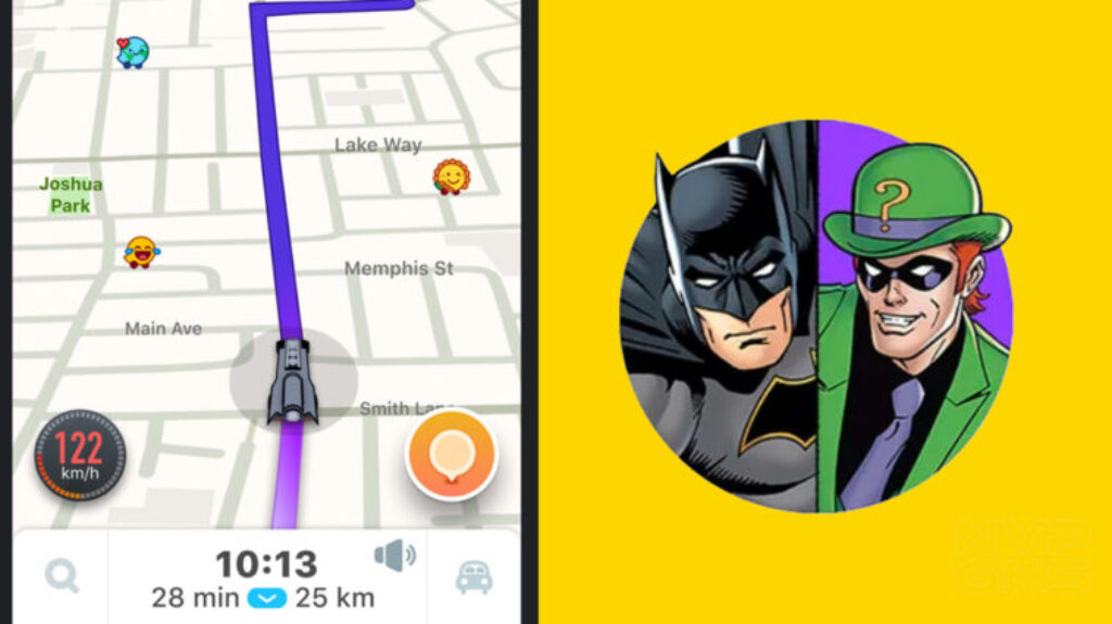Waze x Batman