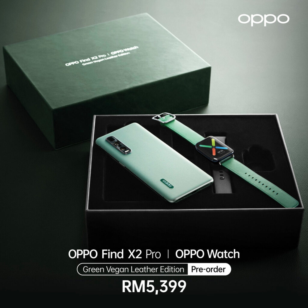 OPPO Find X2 Pro Green Vegan Leather Edition And Oppo Watch Launched; Priced At RM5,399 and From rM899 Respectively 12