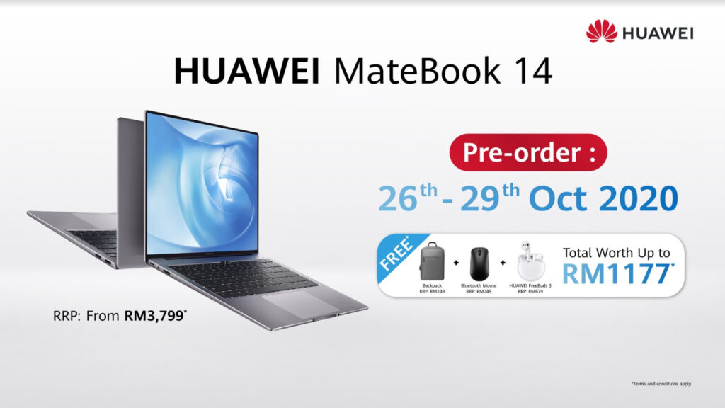 Huawei MateBook 14 2020 Priced At RM3,799, Pre-Order Starts 26th Oct With Freebies Worth RM1,177 7