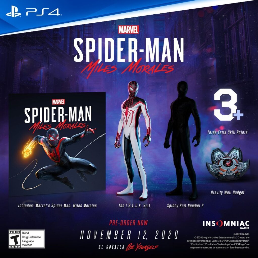 Marvel's Spider-Man Miles Morales For PlayStation 4 Pre-Order Bonus