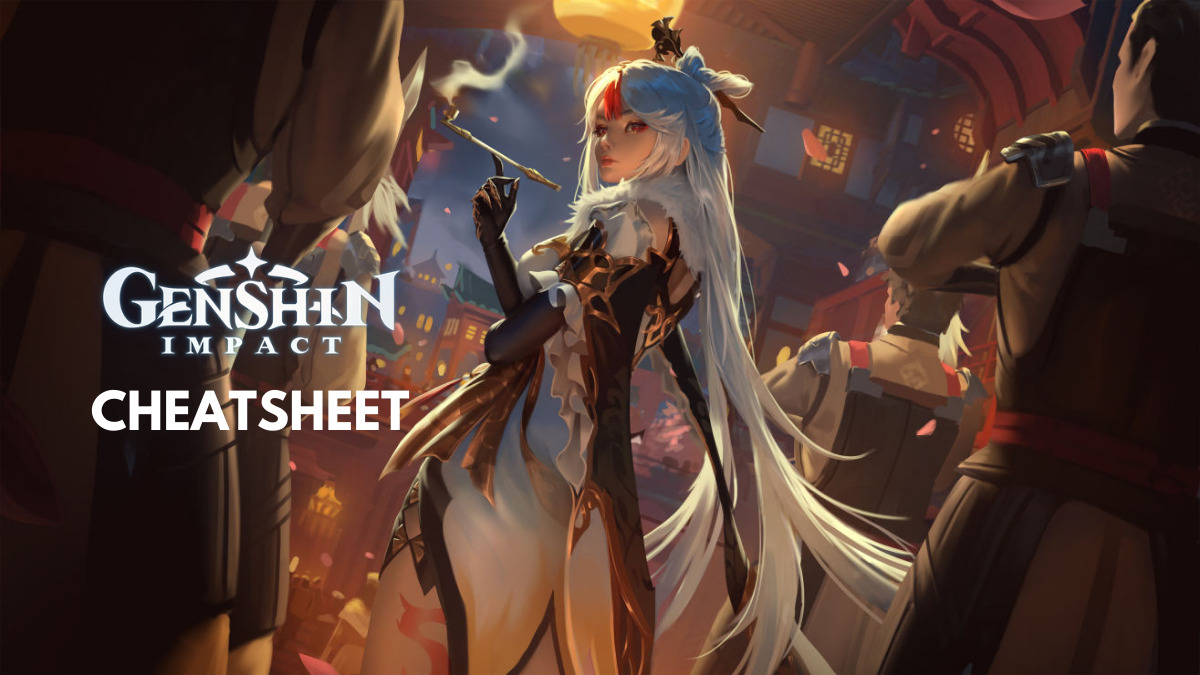 Genshin Impact Cheatsheet Task List Character Builds Currencies And More The Axo