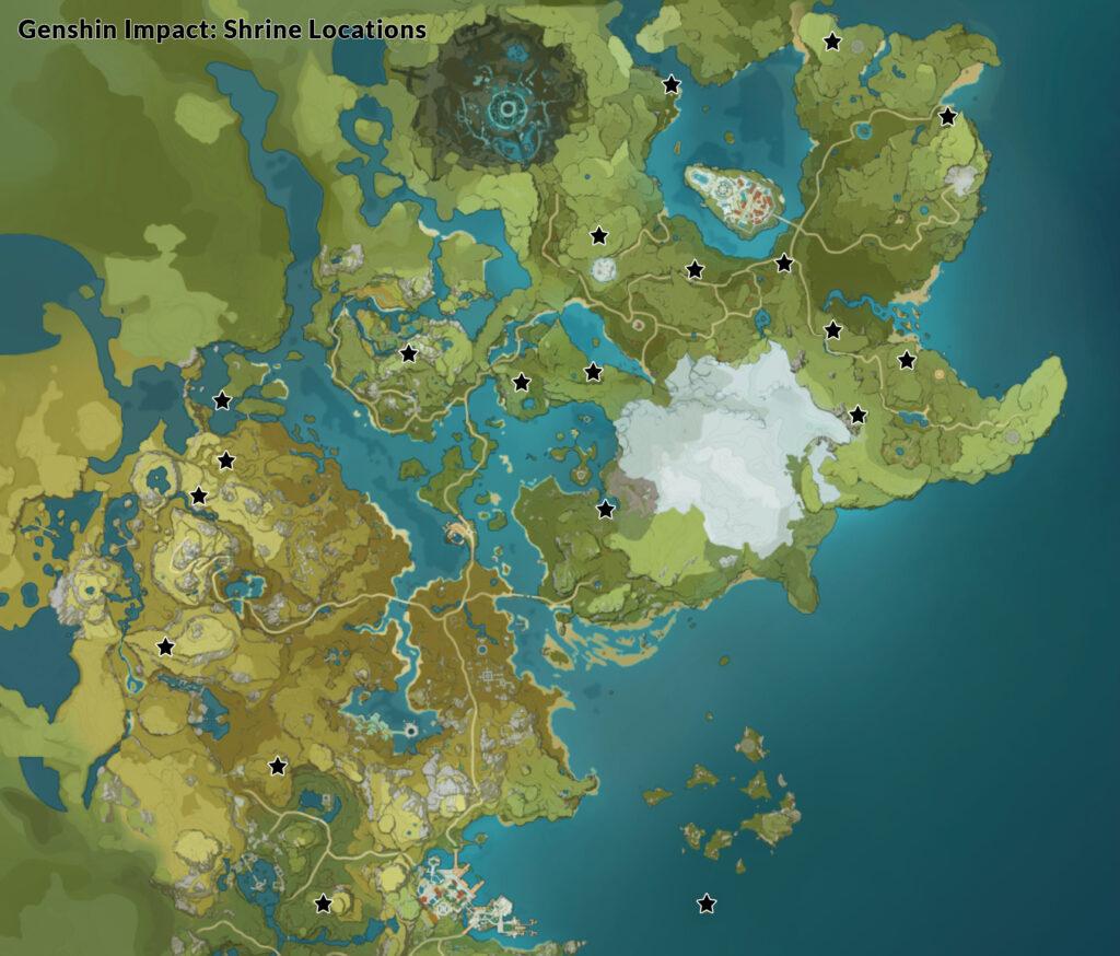 Shrine of Depths Locations