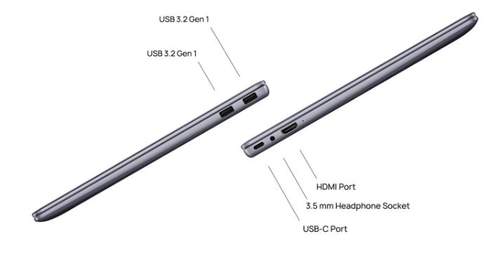 Huawei MateBook 14 2020 ports