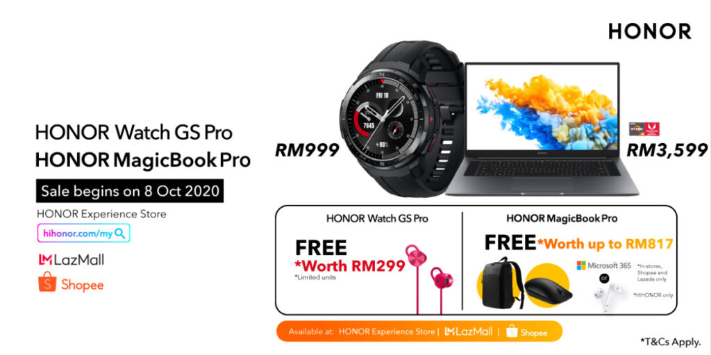 HONOR MagicBook Pro and HONOR Watch GS Pro Launched From RM999 11