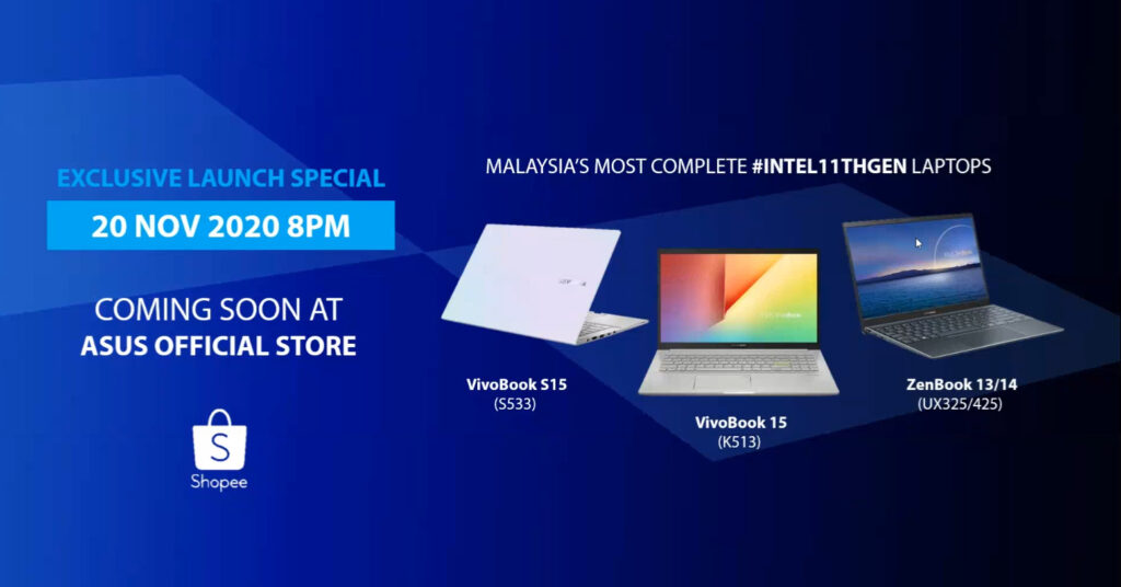 Asus zenBook And VivoBook Lineup Receives 11th Gen Intel Refresh; Priced From RM3,099 10