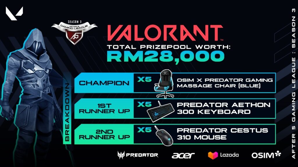 after 5 Gaming League (A5GL) Announced By Acer Malaysia, Offers Corporate professionals And SMEs total prize pool of RM76,000 10