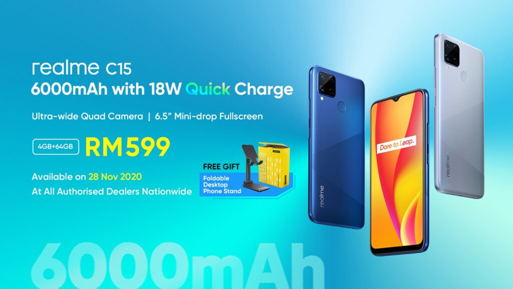 Realme C15 Arrives In Malaysia With 6,000mAh Battery And 18W Quick Charge; Priced From RM599 6