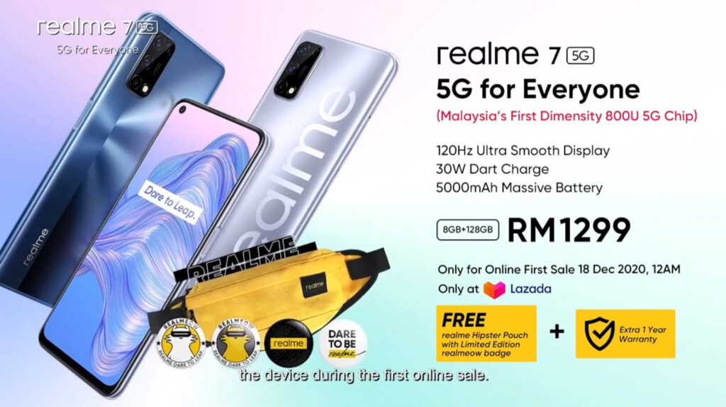 Realme 7 5G Launched For RM1,299; Features Dimensity 800U Chip And 120Hz Display 9