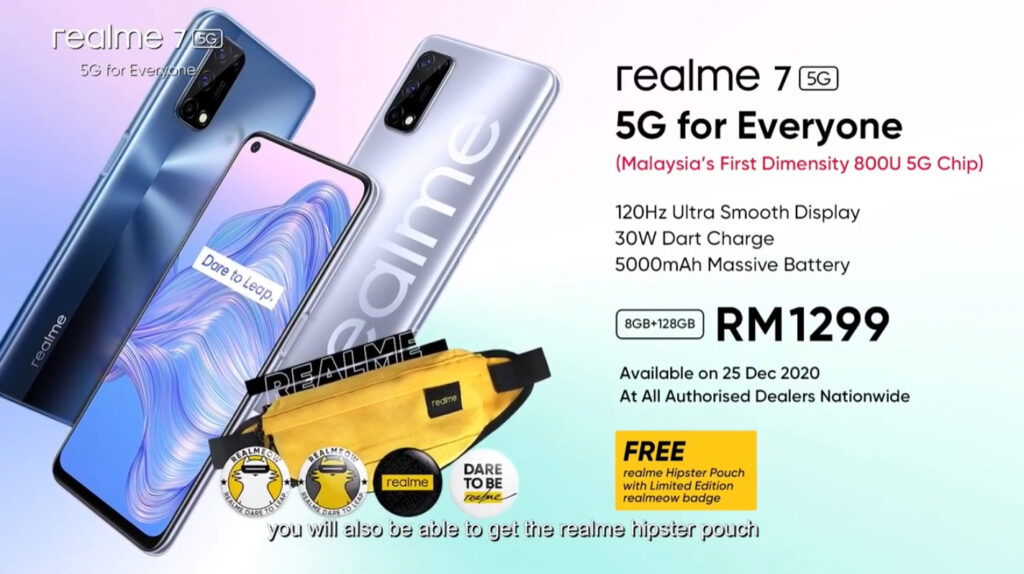 Realme 7 5G Launched For RM1,299; Features Dimensity 800U Chip And 120Hz Display 10